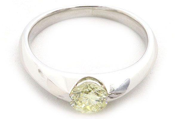 ダイヤモンド リング 一粒 ラウンドブリリアントカット 0.593ct Pt900 13号 中古 指輪 プラチナ Diamond_画像2