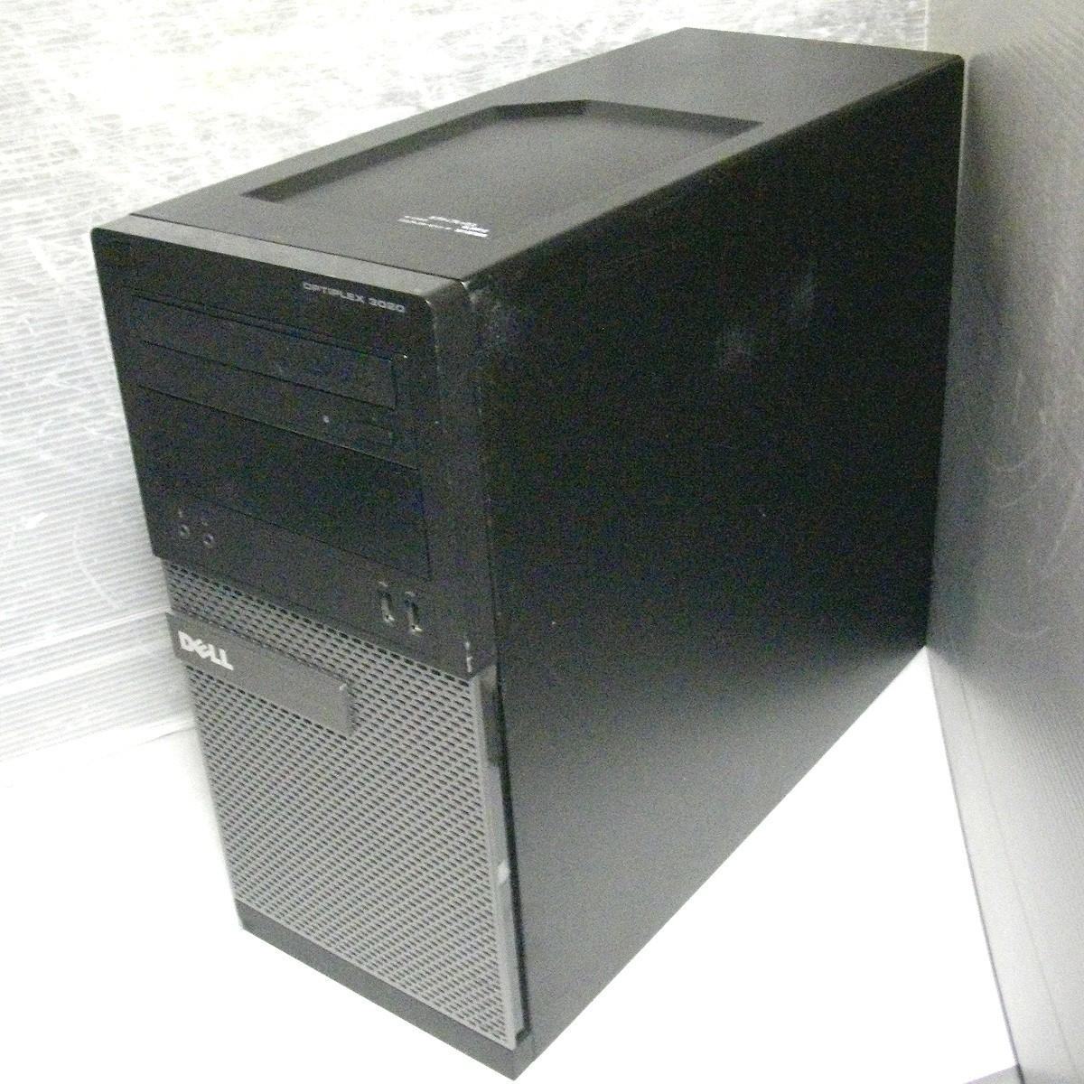 お仕事応援 即納 動保 ミニタワーPC Core i7-4770 新品SSD240GB + HDD 500GB 8GB WIN10 USB3.0 2画面出 デルOPTIPLEX 3020 デスクトップPC