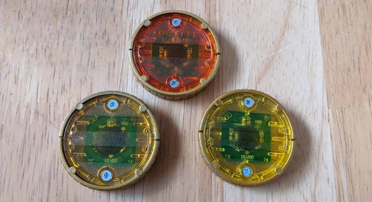 ◆仮面ライダーオーズ DXオーメダル ラトラーターコンボ 中古 ライオン・トラ・チーター_画像2