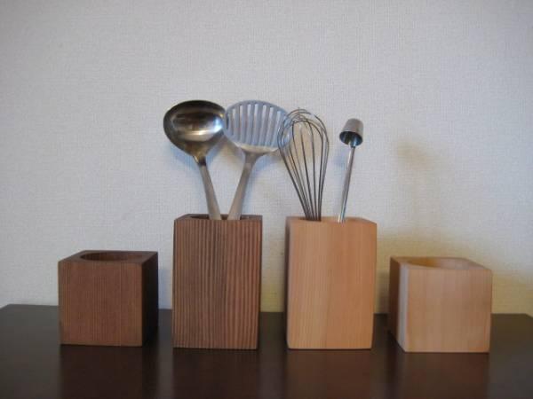 天然木のスタンド キッチン収納 雑貨_画像1