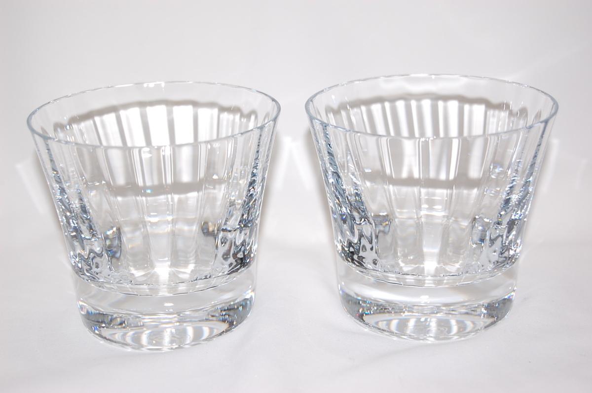 バカラ Baccarat ミルニュイ タンブラー 2客セット ペアグラス クリスタルガラス ロックグラス マティアス 【未使用品】_画像1