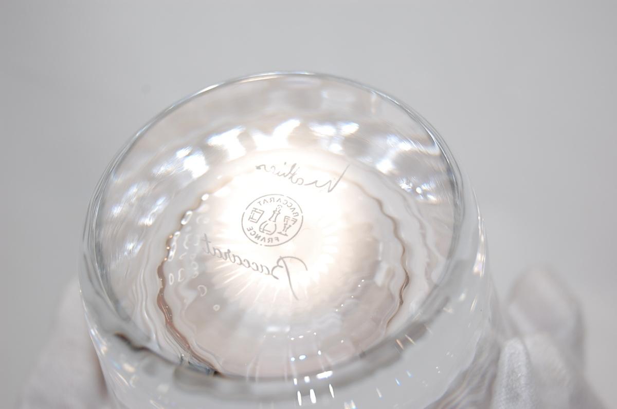 バカラ Baccarat ミルニュイ タンブラー 2客セット ペアグラス クリスタルガラス ロックグラス マティアス 【未使用品】_画像4