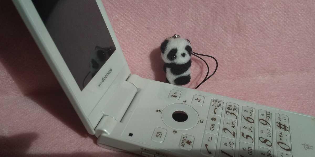 羊毛フェルト ハンドメイド パンダ 赤ちゃん ストラップ_画像3