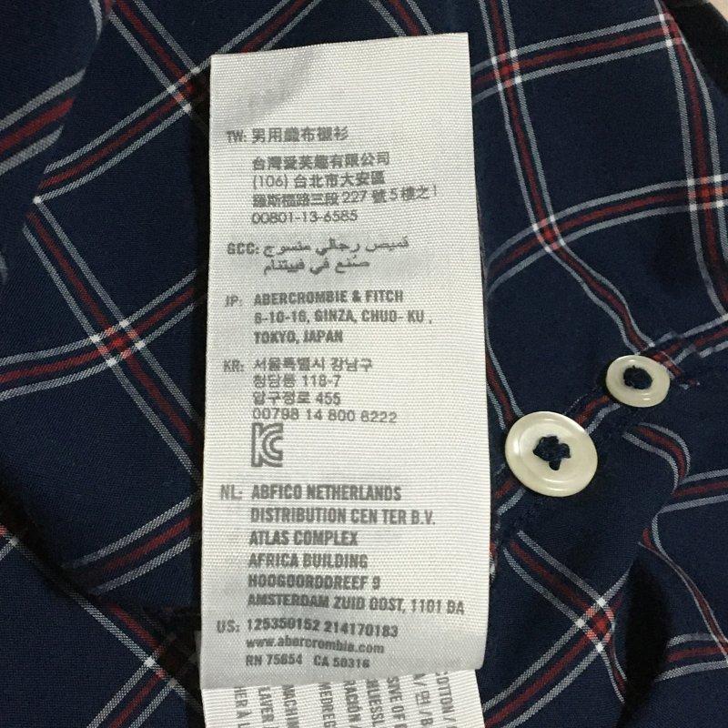 《郵送無料》■Ijinko★アバクロンビー&フィッチ Abercrombie & Fitch muscle ★S サイズ長袖シャツ