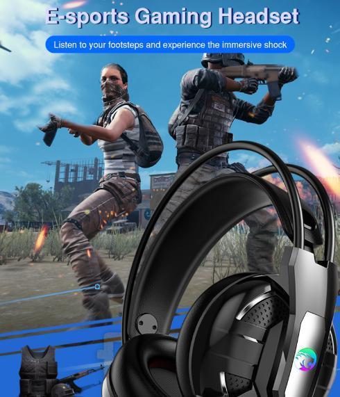 F100 ゲーミングヘッドセット マイク付き 人気ヘッドホン FPS アクション 映画 音楽 PC/ゲーム機 ブラック_画像8