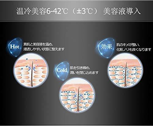 F65 美顔器 超音波 フェイスケア 振動 イオン導入 温冷 血行促進 しわ たるみ 毛穴 マッサージ効果 ホワイト_画像9