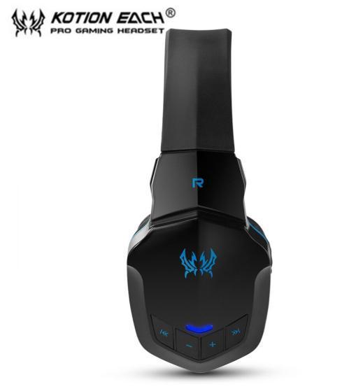 W100 ワイヤレスヘッドセット bluetooth ゲーミングヘッドホン FPS 装着性 臨場感 高音質 PC/ゲーム機 ブラック&ブルー_画像5