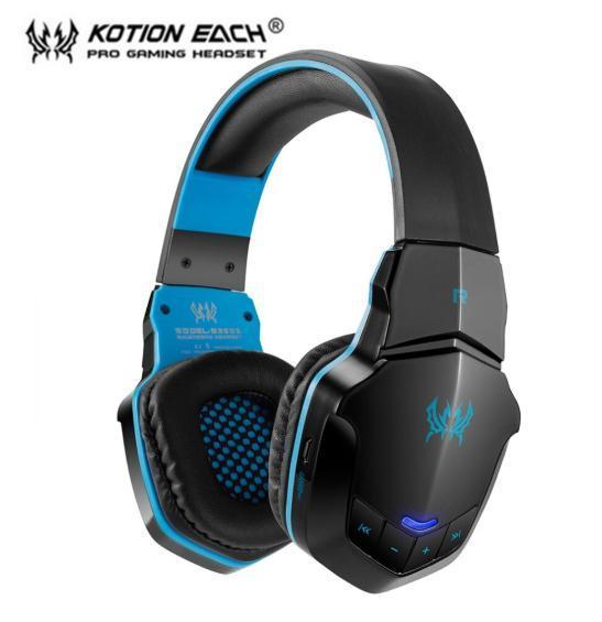 W100 ワイヤレスヘッドセット bluetooth ゲーミングヘッドホン FPS 装着性 臨場感 高音質 PC/ゲーム機 ブラック&ブルー_画像1