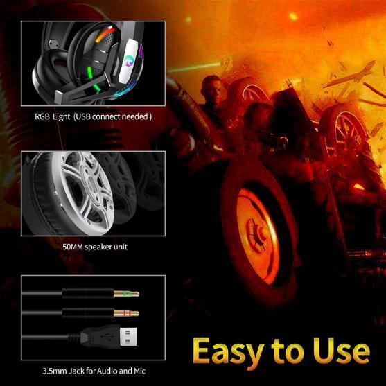 F100 ゲーミングヘッドセット マイク付き 人気ヘッドホン FPS アクション 映画 音楽 PC/ゲーム機 ブラック_画像4