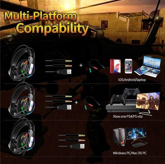 F100 ゲーミングヘッドセット マイク付き 人気ヘッドホン FPS アクション 映画 音楽 PC/ゲーム機 ブラック_画像2