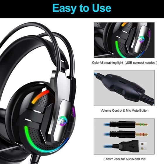 F100 ゲーミングヘッドセット マイク付き 人気ヘッドホン FPS アクション 映画 音楽 PC/ゲーム機 ブラック_画像6