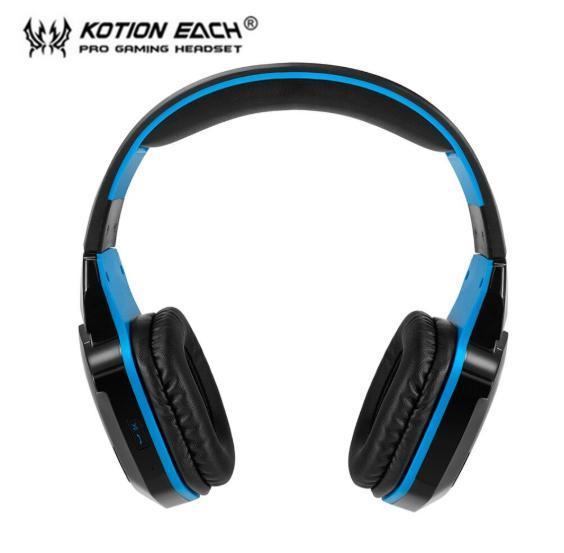 W100 ワイヤレスヘッドセット bluetooth ゲーミングヘッドホン FPS 装着性 臨場感 高音質 PC/ゲーム機 ブラック&ブルー_画像4