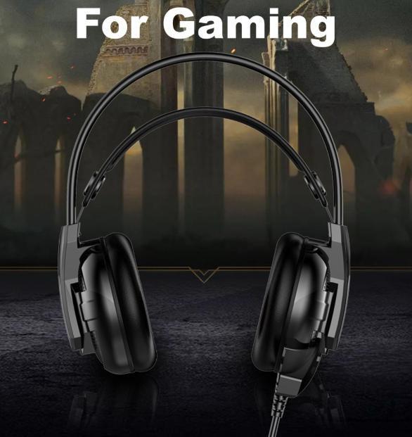 F100 ゲーミングヘッドセット マイク付き 人気ヘッドホン FPS アクション 映画 音楽 PC/ゲーム機 ブラック_画像9