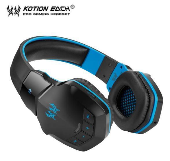 W100 ワイヤレスヘッドセット bluetooth ゲーミングヘッドホン FPS 装着性 臨場感 高音質 PC/ゲーム機 ブラック&ブルー_画像2