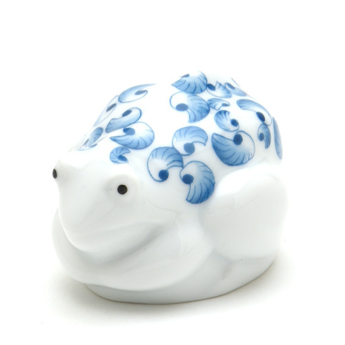 ヘレンド(Herend) 蛙置物 かえるJH(親) ハンドメイド 手描き 磁器製 フィギュリン 飾り物 フロッグ ハンガリー製 新品_【ハンドメイド・飾り物・かえる置物・蛙】