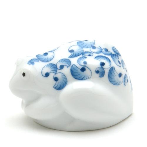 ヘレンド(Herend) 蛙置物 かえるJH(親) ハンドメイド 手描き 磁器製 フィギュリン 飾り物 フロッグ ハンガリー製 新品_画像2