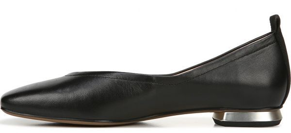 送料無料 Franco Sarto 25.5cm フラット バレエ ローファー スリッポン ブラック 黒 レザー 革 フォーマル ヒール ブーツ スニーカー AC46_画像7