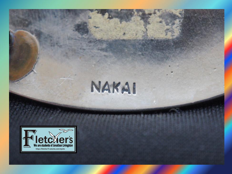 ナバホ族作家NAKAI作 シルバー & ターコイズ ベルトバックル インディアンジュエリー ネイティブ アクセサリー c22_画像4
