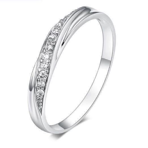 18号 AAA CZダイアモンド シルバーリング サージカルステンレス 18KGP 刻印 有り エンゲージリング 婚約指輪 特価 ダイヤモンドリング_画像1