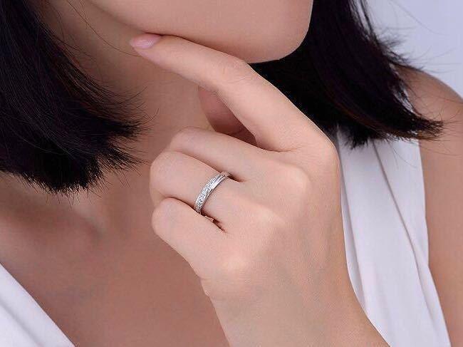 16号 AAA CZダイアモンド ピンクゴールド リング サージカルステンレス 18KGP エンゲージリング 特価 結婚指輪 ペアリング_画像5