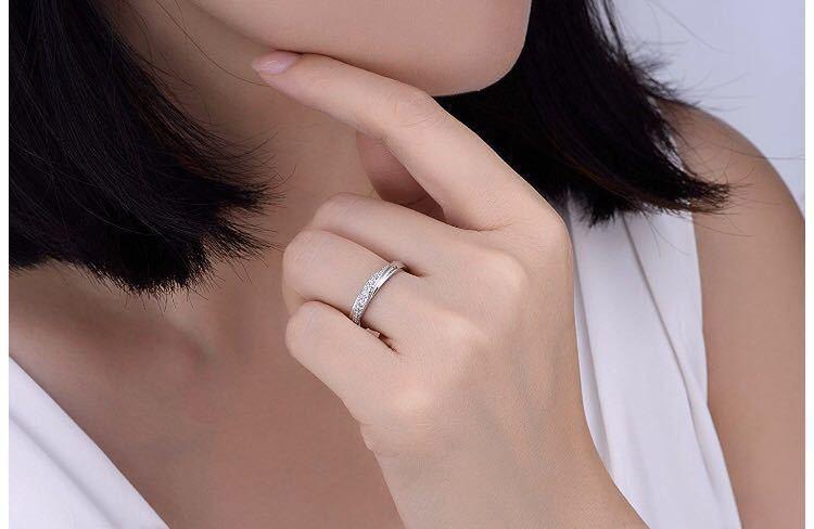 18号 AAA CZダイアモンド シルバーリング サージカルステンレス 18KGP 刻印 有り エンゲージリング 婚約指輪 特価 ダイヤモンドリング_画像5