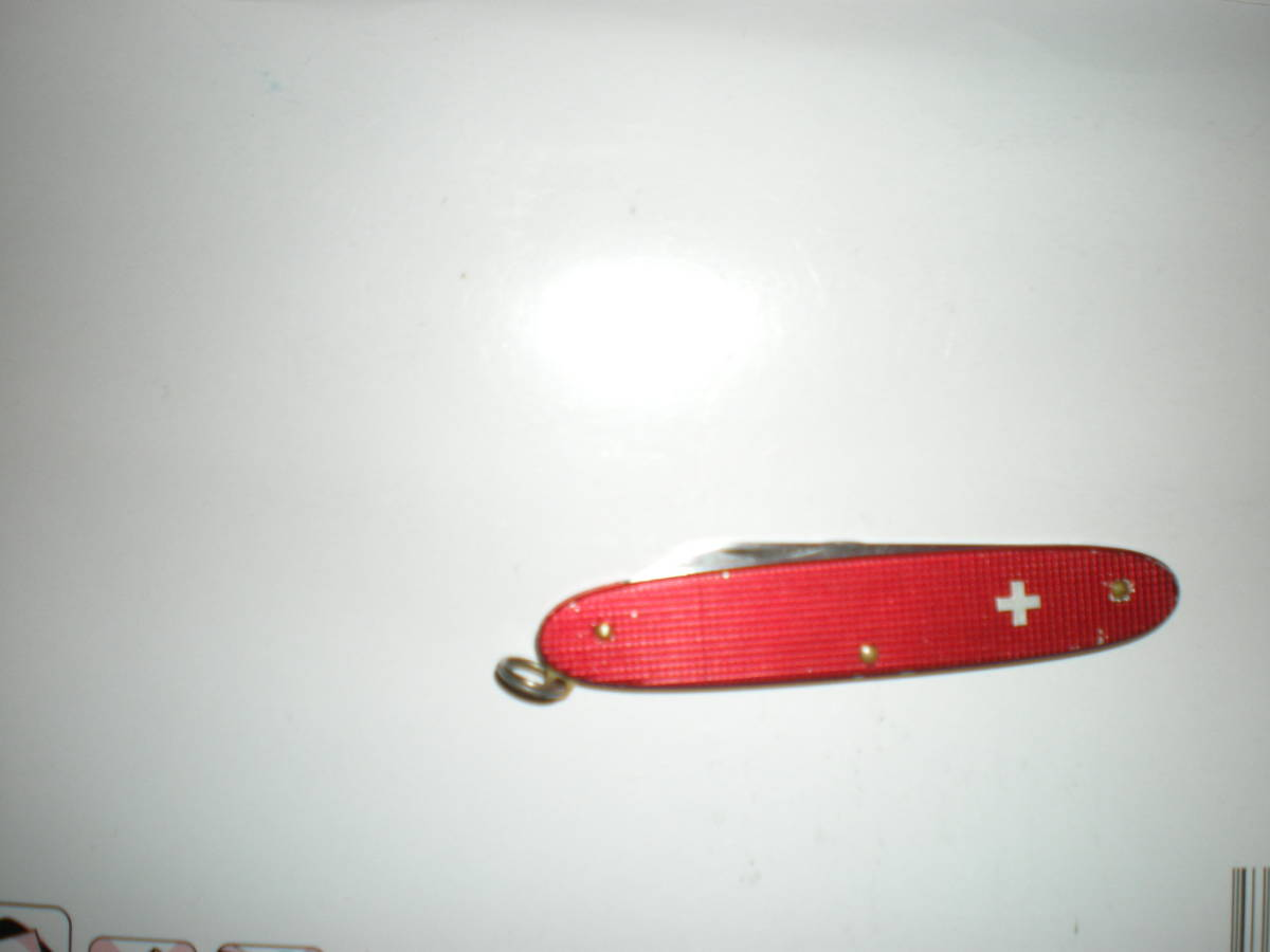 ポピュラーAL 小さな ソルジャー 赤いアルミボディ ツーブレード 薄型 ビクトリノックス 500_画像1