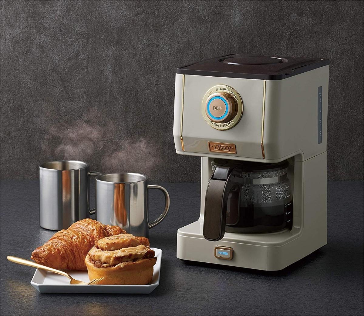 Toffy アロマドリップコーヒーメーカー K-CM5 コーヒーメーカー グレー