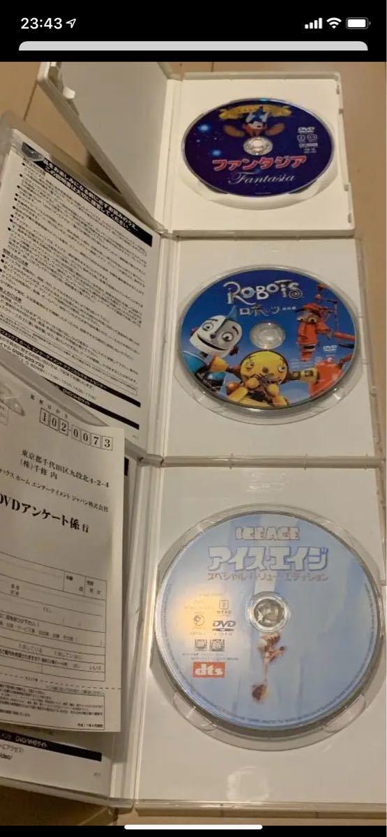 ディズニーDVD3本セット ファンタジア・ロボッツ・アイスエイジ