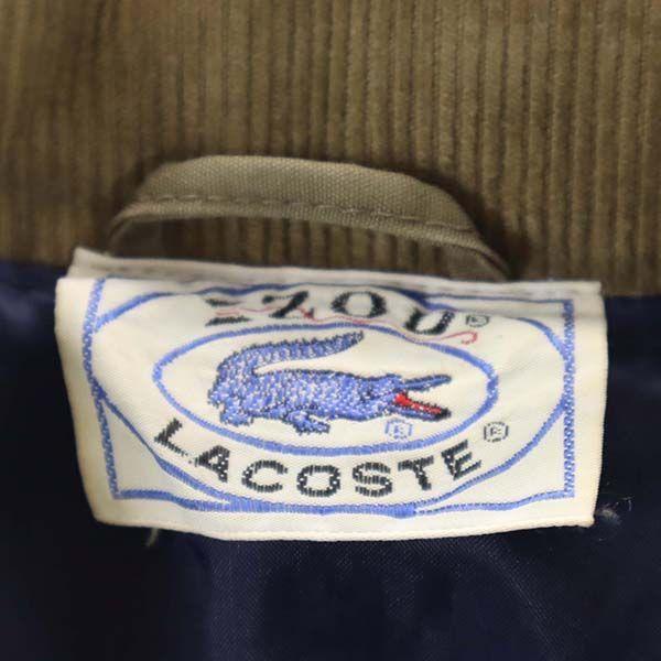 アイゾッド ラコステ 70s-80s 3Mシンサレート ブルゾン M IZOD LACOSTE ジャケット 台湾製 ヴィンテージ ダークベージュ メンズ 200321_画像9