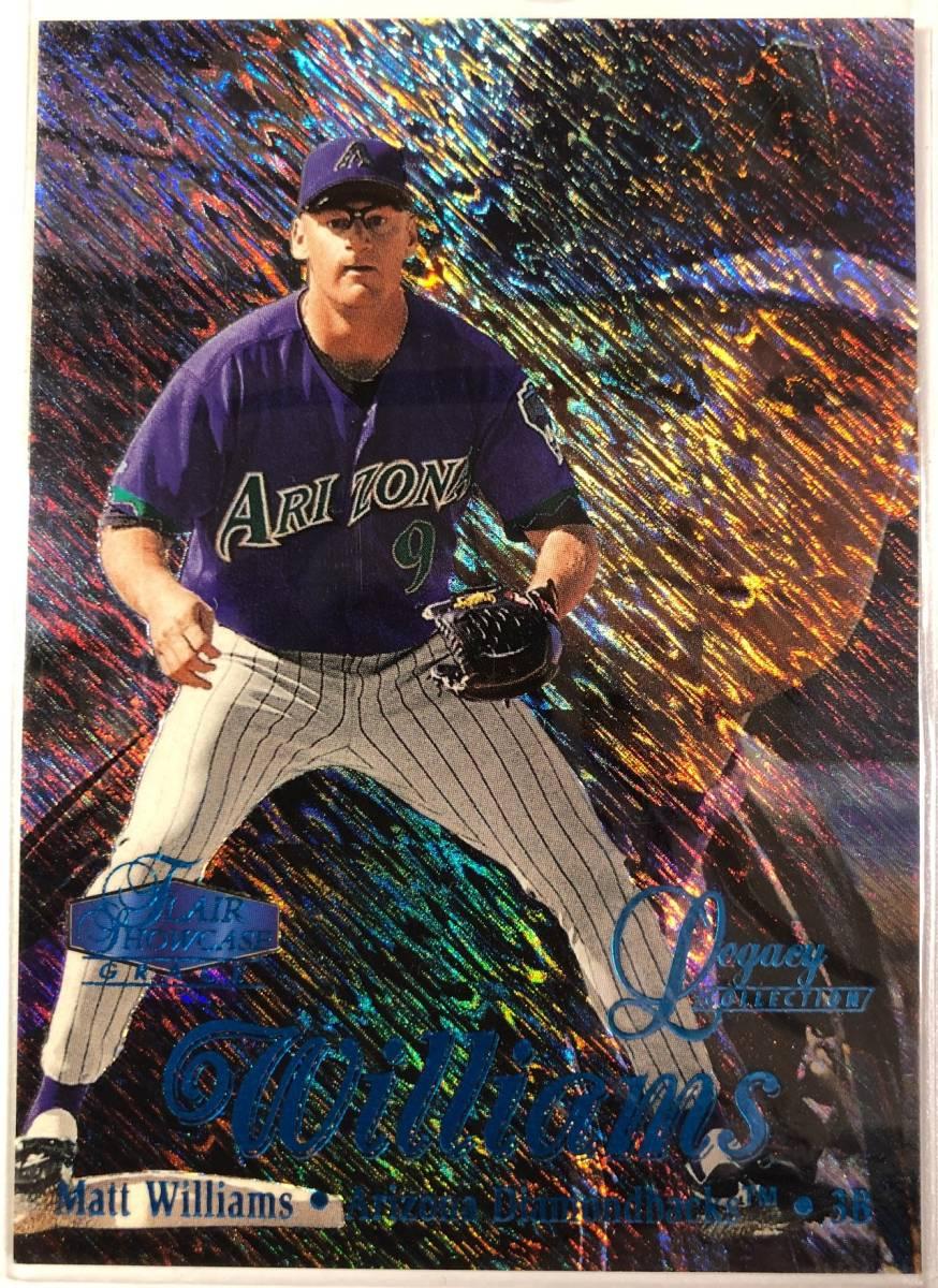 名作! Matt Williams < 1998 Flair Showcase Row1 Legacy Collection > 100枚限定パラレル レガシーコレクション_画像1