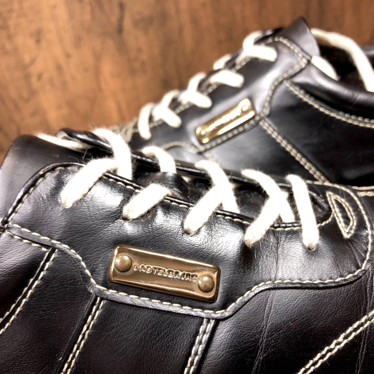 ■CASTELBAJAC■ 26cm 黒 ブラック カステルバジャック スニーカー メンズ 靴 くつ 中古 ヤフネコ 即決_画像10