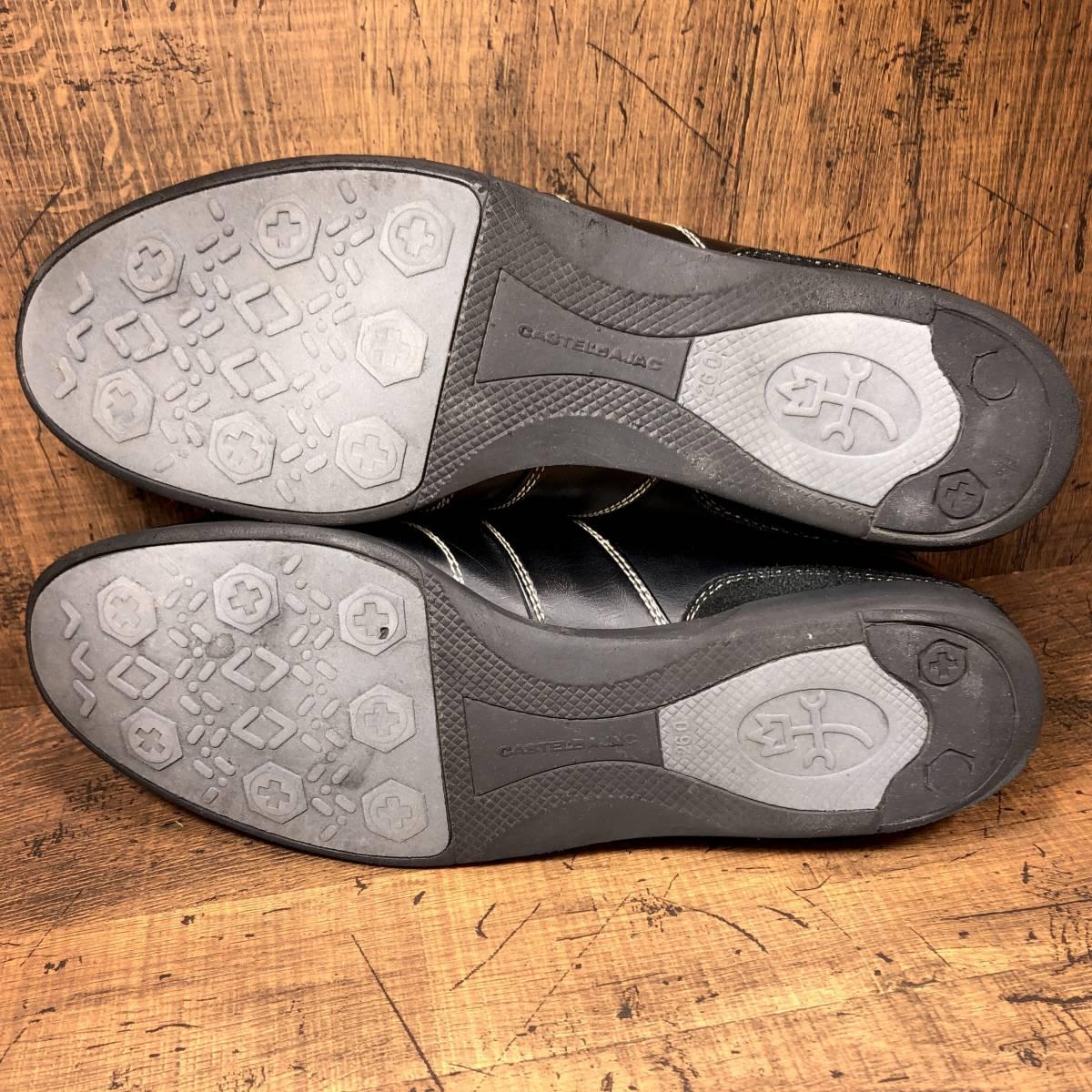 ■CASTELBAJAC■ 26cm 黒 ブラック カステルバジャック スニーカー メンズ 靴 くつ 中古 ヤフネコ 即決_画像6