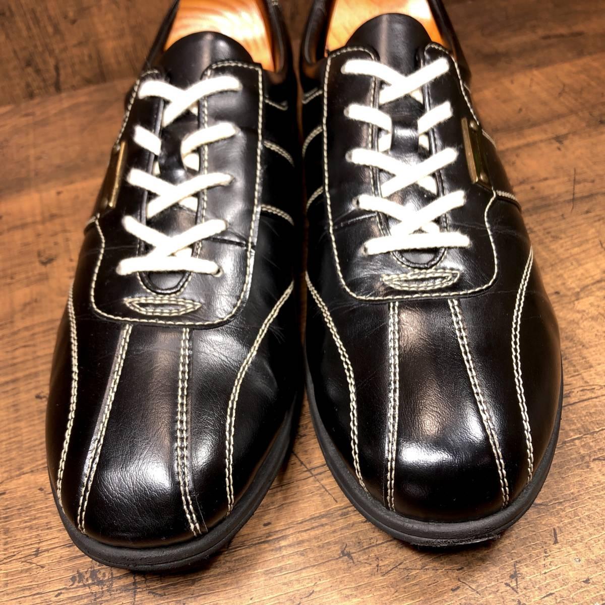 ■CASTELBAJAC■ 26cm 黒 ブラック カステルバジャック スニーカー メンズ 靴 くつ 中古 ヤフネコ 即決_画像4