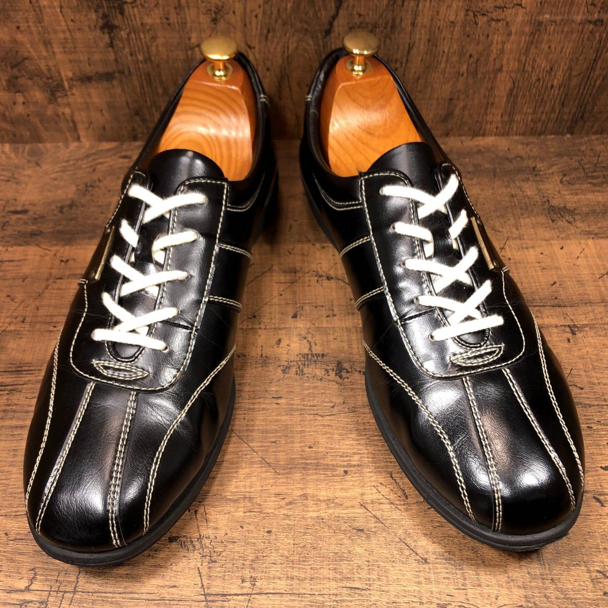 ■CASTELBAJAC■ 26cm 黒 ブラック カステルバジャック スニーカー メンズ 靴 くつ 中古 ヤフネコ 即決_画像2