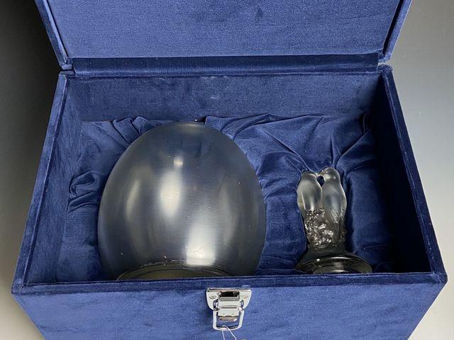 《芦》 Rene Lalique ルネ・ラリック TOURTERELLES(キジバト) 蓋付瓶 真作保証_画像10