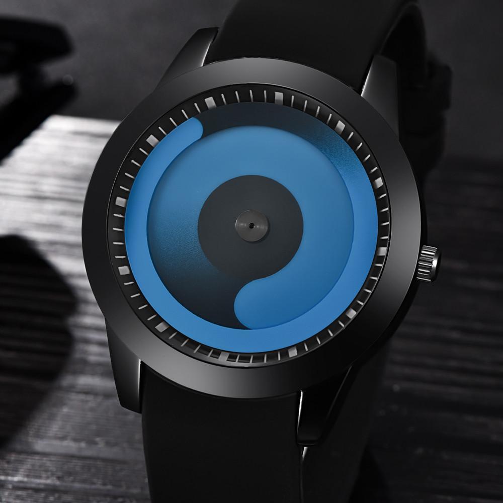 ファッション男性のミニマリストウォッチメッシュバンドステンレス鋼アナログクォーツ腕時計高級シルバー腕時計男性レロジオ Masculino_画像2