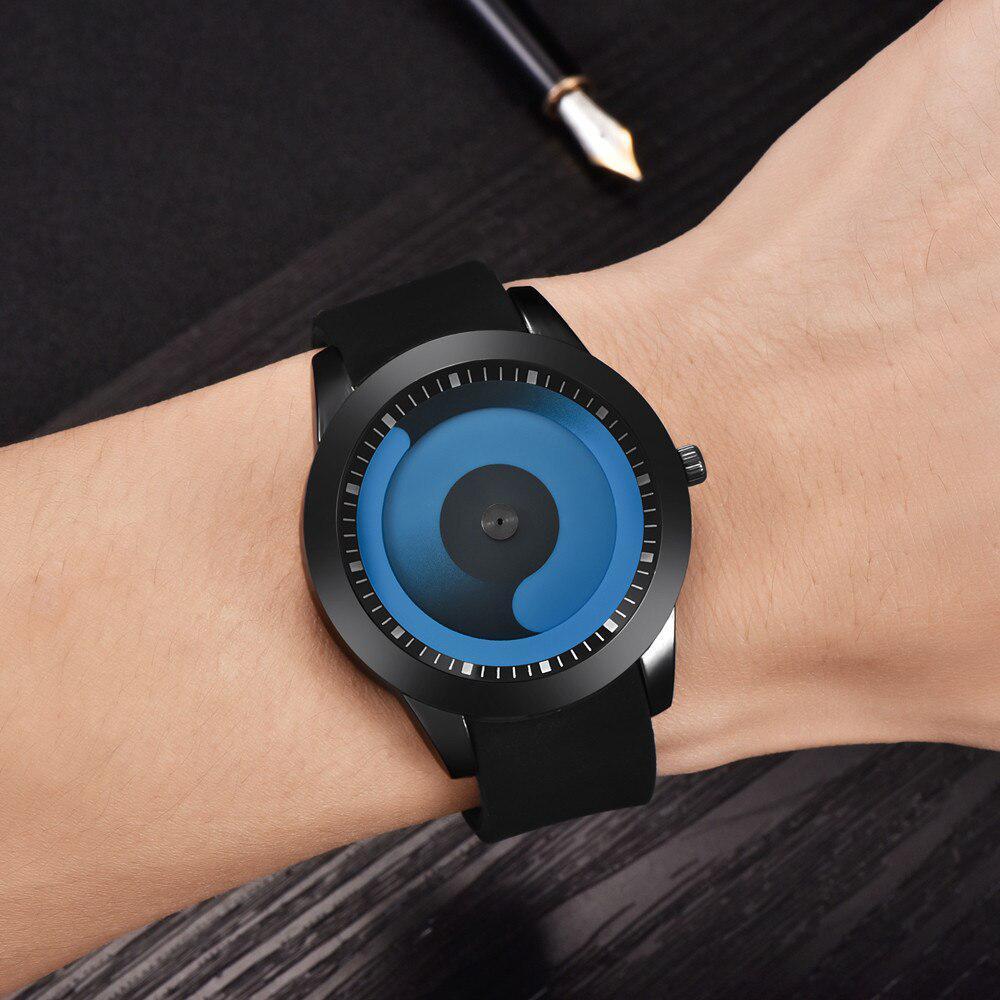 ファッション男性のミニマリストウォッチメッシュバンドステンレス鋼アナログクォーツ腕時計高級シルバー腕時計男性レロジオ Masculino_画像3