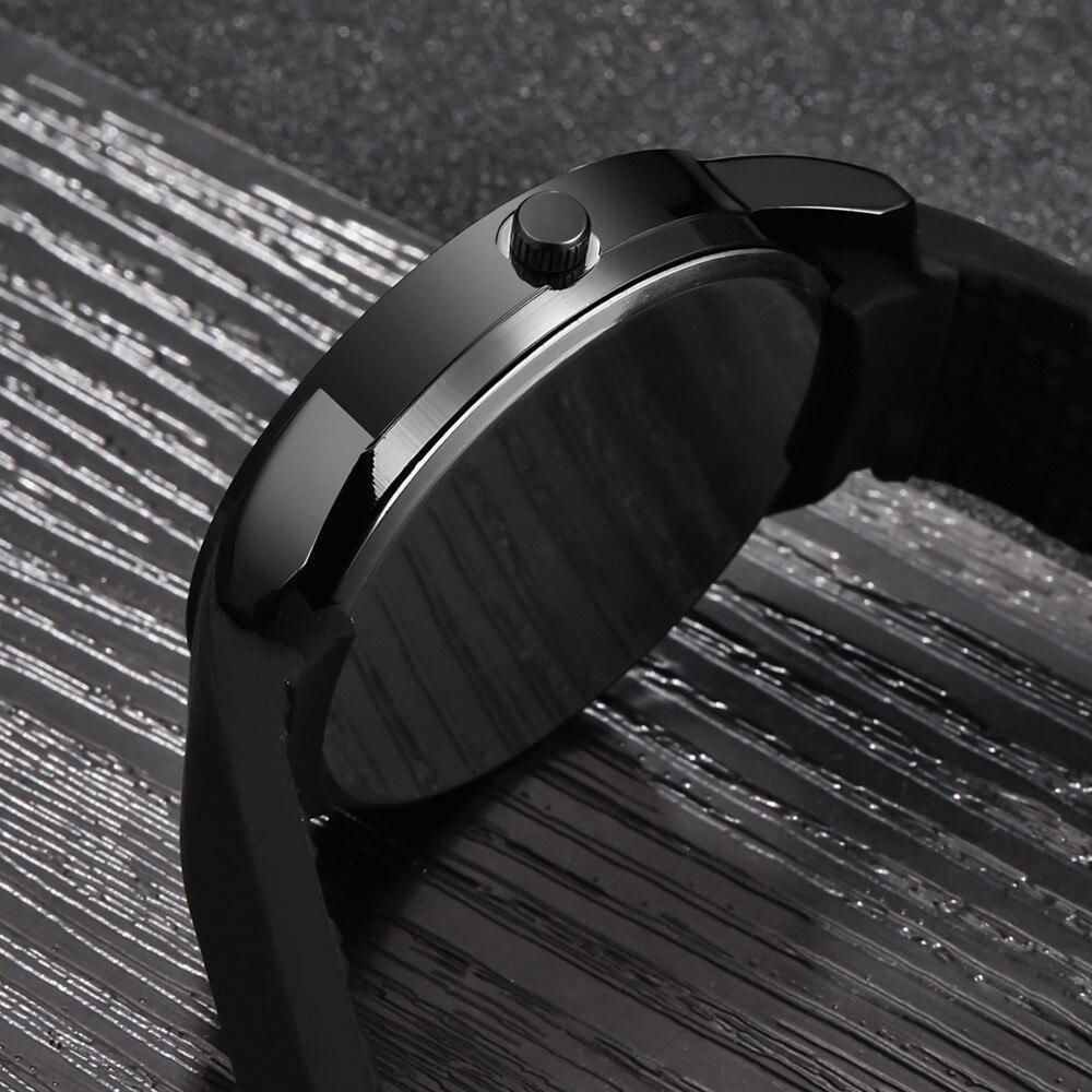 ファッション男性のミニマリストウォッチメッシュバンドステンレス鋼アナログクォーツ腕時計高級シルバー腕時計男性レロジオ Masculino_画像5