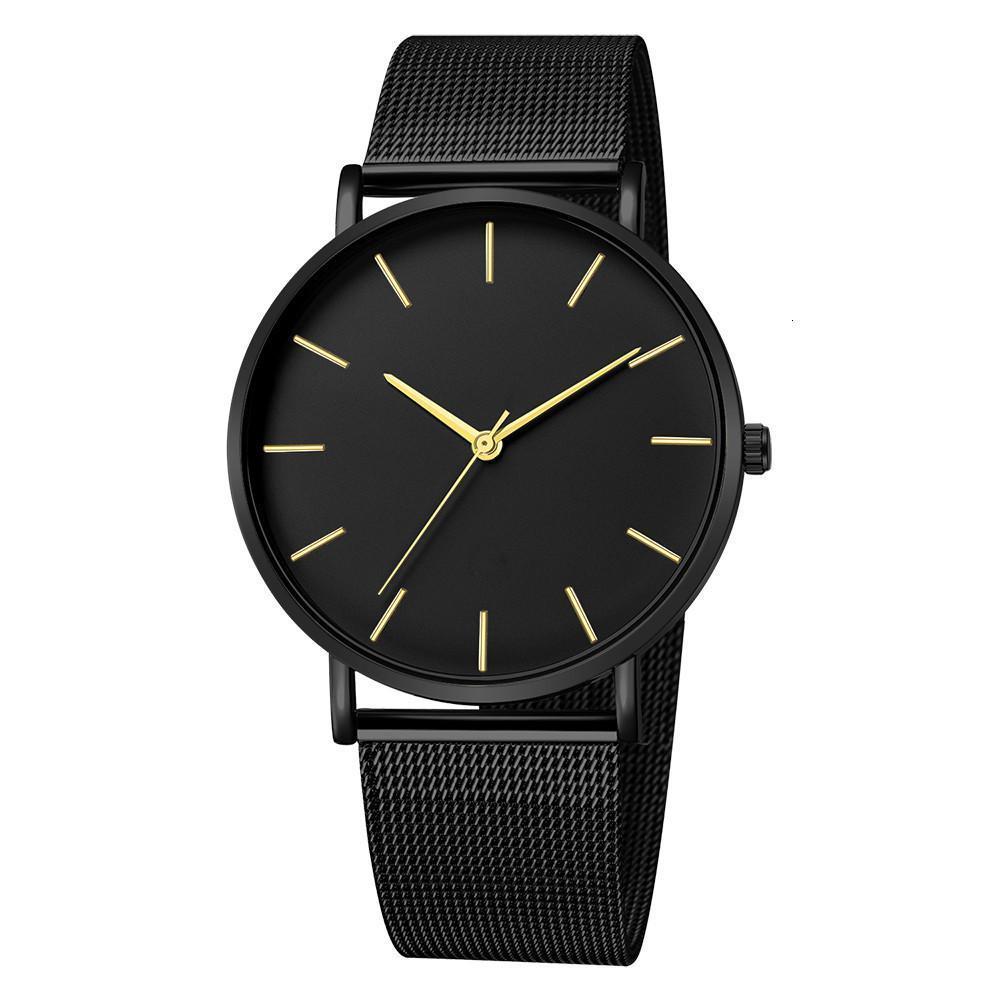 高級時計男性メッシュ超薄型ステンレス鋼クォーツ腕時計男性時計リロイ hombre レロジオ masculino_画像5
