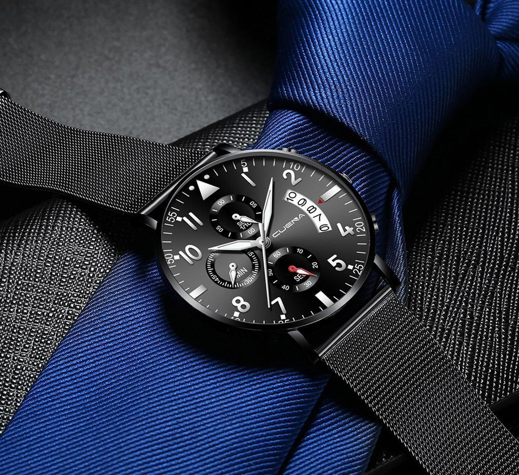 腕時計男性ステンレス鋼の高級軍事スポーツウォッチレロジオ Masculino クォーツ腕時計 Saat リロイやつカレンダー_画像5