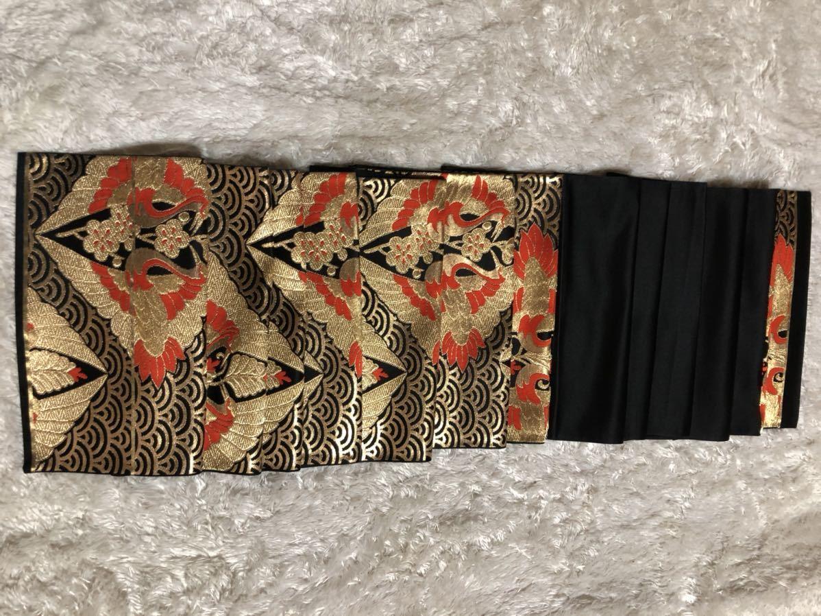送料無料☆正絹名古屋帯   和装 着物帯♪リメイク ♪巾約 30.5cm長さ約 411.5cm_画像2