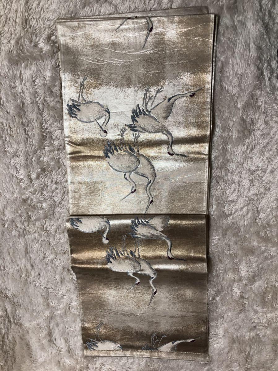 送料無料☆高級 は正絹名古屋帯 和装 着物帯♪リメイク ♪巾約 31cm長さ約 435.5cm_画像2