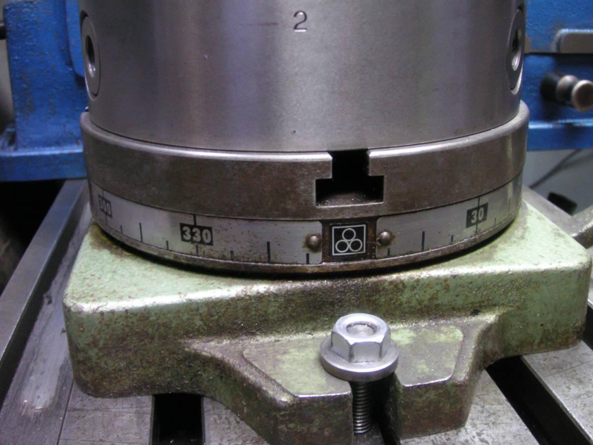 シンポ工業製インデックスとスクロールチャック 中古 回転テーブル 分割盤 サーキュラーテーブル 割り出し盤 三ッ爪チャック_画像4