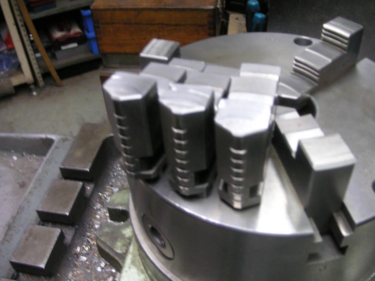 シンポ工業製インデックスとスクロールチャック 中古 回転テーブル 分割盤 サーキュラーテーブル 割り出し盤 三ッ爪チャック_画像7