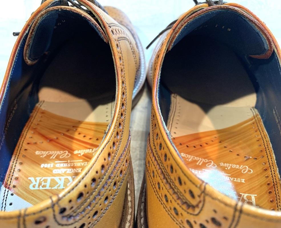 【未使用品】BARKER BaileyⅡ バーカー◆25cm UK6◆ウイングチップ フルブローグ◆茶◆革靴 ビジネスシューズ レザー◆イギリス製 メンズ_画像7