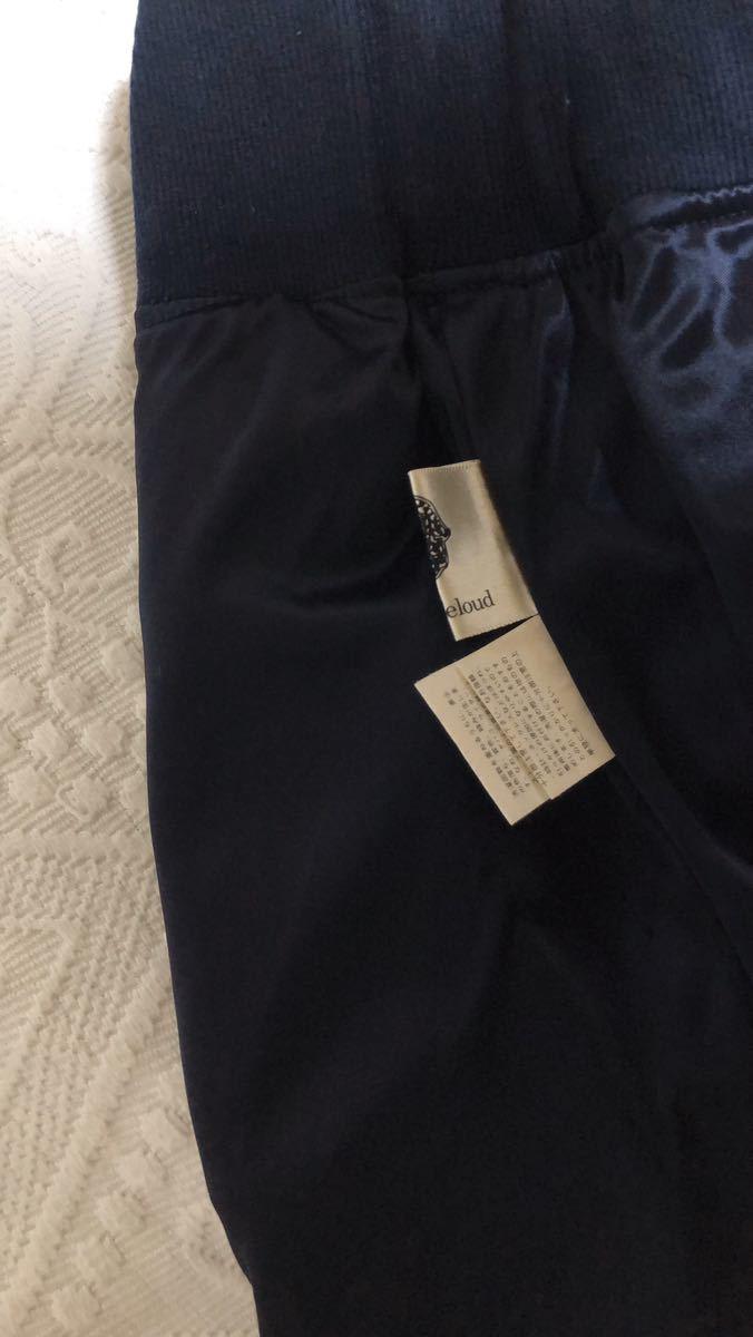 Bou Jeloud ブージュルード キュロットパンツ 水玉 ドット柄 ネイビー レディース ショートパンツ キュロットスカート 紺 ネイビー