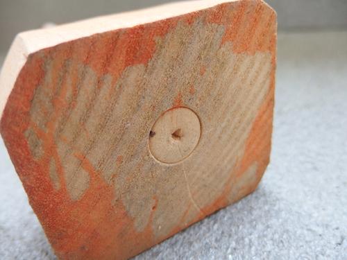 300148s【木彫り 船長 置物】男性/煙草をくわえる人/H31cm/中古品_画像6