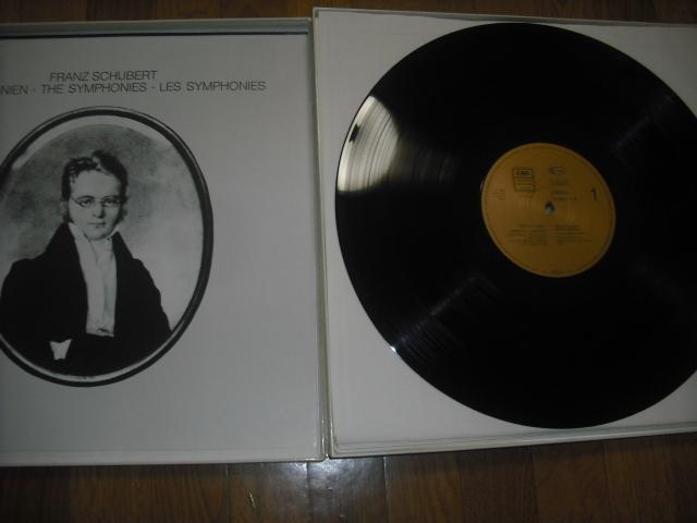 独EMI1555273 ヴァント指揮/シューベルト交響曲全集+ロザムンデ 金盤 5LPbox digital録音盤_画像2