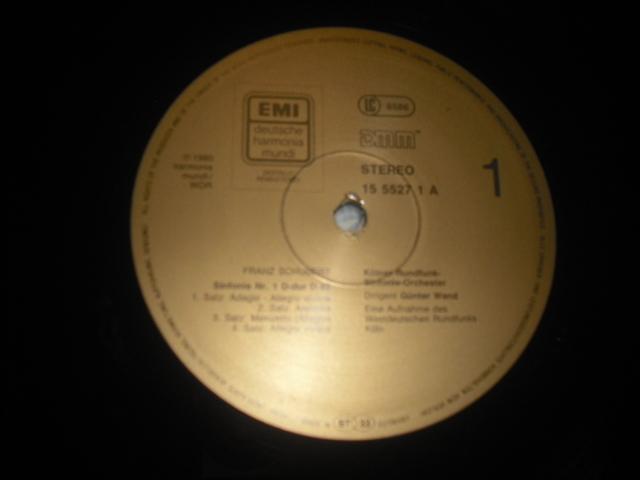 独EMI1555273 ヴァント指揮/シューベルト交響曲全集+ロザムンデ 金盤 5LPbox digital録音盤_画像3