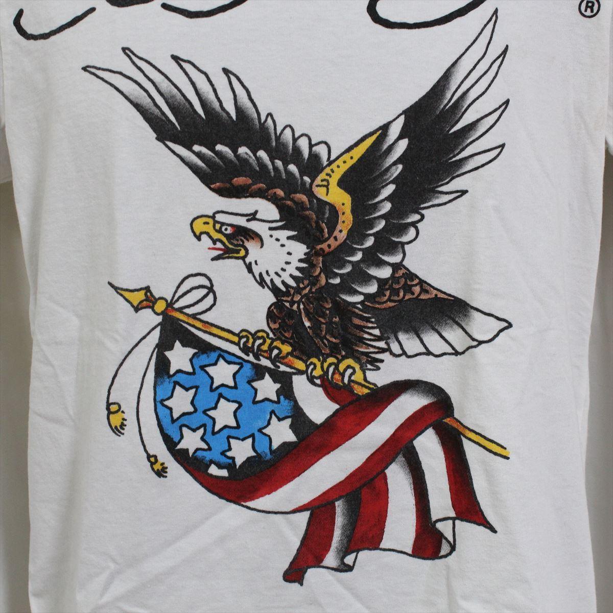 エドハーディー ED HARDY メンズ半袖Tシャツ ホワイト Mサイズ NO10 アウトレット_画像2